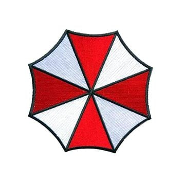 1Pcs Resident Evil Umbrella Corporation logo badge biker retro tv movie applique sew on/ iron on patch clothing