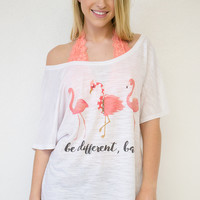 Flamingo Be Different Tee