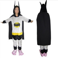 Batman Costume (not include slipper ) Onesuit Kigurumi For Adult Women Men's Pajamas Halloween Christmas Party Cosplay Costume