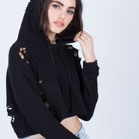 Cropped Hoodie Sweater