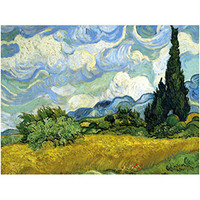 Vincent van Gogh: Wheat Field with Cypresses Puzzle