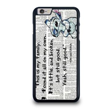 LILO AND STITCH QUOTES Disney iPhone 6 / 6S Plus Case Cover