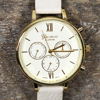 Simple Time Watch in Ivory