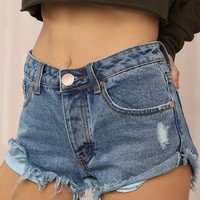 Lighten Up Shorts - Denim