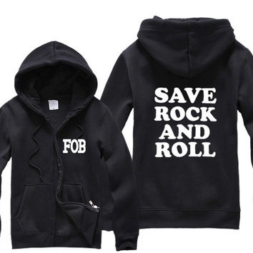 FOB Fall Out Boy Save Rock And Roll Funny Sweatshirt Sweater More Colors S - 2XL