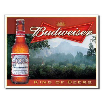 Tin Sign : Budweiser - King of Beers