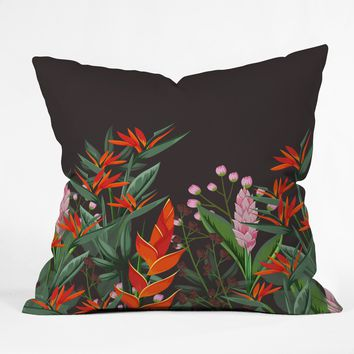 Viviana Gonzalez Dramatic Florals Collection 01 Throw Pillow | Deny Designs
