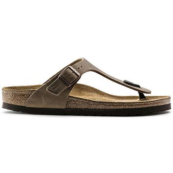 Birkenstock Gizeh Oiled Leather Tobacco Brown 943811 Sandals - Ready Stock