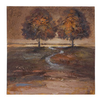 Meandering Stream Painting Print on Canvas