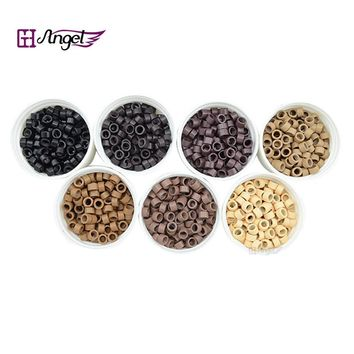 Charlie's Angels 1000pcs 4.5*3.0*3.0mm Aluminium Micro Rings/Links/Beads Hair Extension Tubes for Feather Hair Extensions Tools