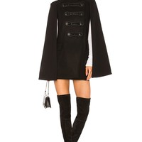 Pierre Balmain Military Cape in Black | REVOLVE