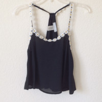 Jennifer Black Crop Top