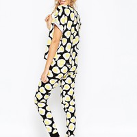ASOS Fried Egg All Over Print Tee & Legging Pajama Set