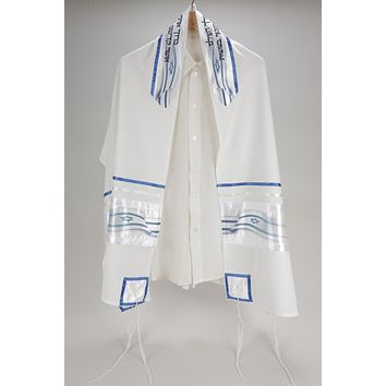 Beloved Star of David Decoration on Viscose Tallit
