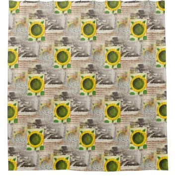 Sunflower Ancient Rome Italian Shower Curtain