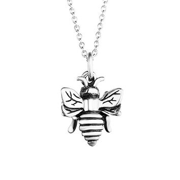 Cute Bee Charm Chain Pendant Necklace