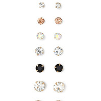FOREVER 21 Faux Gemstone Stud Set Gold/Clear One