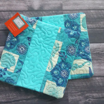 Ocean themed quilted hot pad - set of 2!  Trivet, quilted hot pad, quilted trivet, beach decor, kitchen linens