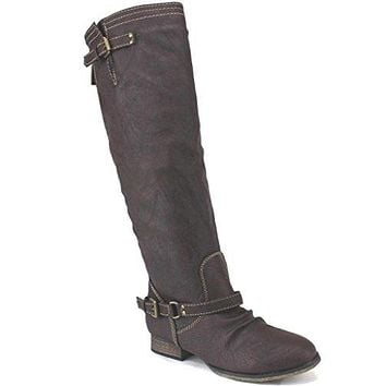 Womens Outlaw-11 Knee High Zipped Riding Boots