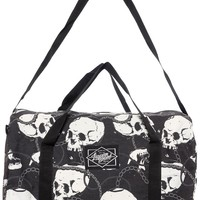 LIQUORBRAND SKULL & CHAINS DUFFLE BAG