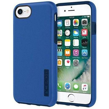 CREYRQ5 Incipio DualPro iPhone 8 & iPhone 7/6/6s Case with Shock-Absorbing Inner Core & Protective Outer Shell for iPhone 8 & iPhone 7/6/6s - Iridescent Nautical Blue/Blue