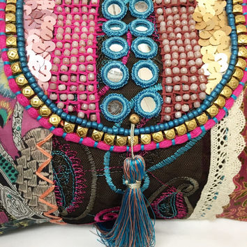 Clutch/Make up bag/Travel bag/Night Bag/Embroidery Bag/Zen/Yoga *FREE SHIPPING to AUSTRALIA