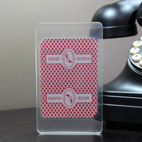 Silver Slipper Las Vegas CLOSED Ace of Spades Authentic Playing Card Display Acrylic Cast A0027