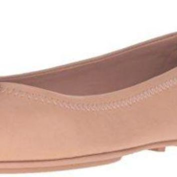 Tory Burch Minnie Travel Ballet Flat Light Oak