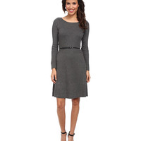 Calvin Klein Short Sleeve Belted Sweater Dress
