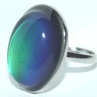 Original Oval Mood Ring (Adjustable Size) One size fits all With BeWild Balloon