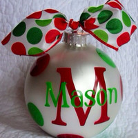 Personalized Christmas Ornament  by MBellaBowtique on Etsy