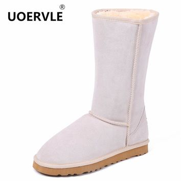 High Quality Brand Snow Boots Women Fashion Genuine Leather Australia Classic Women's High Boot Winter Unisex Snow Shoes US-4-11