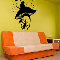 Vinyl Wall Decal Sticker Mice Mushroom Shelter #OS_MB484