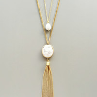 Marblesque Layered Pendant Necklace