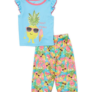 Blue Pineapple 'Sweet Dreams' Pajama Set - Toddler & Girls