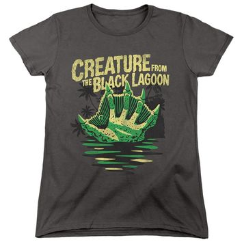 Creature from the Black Lagoon Womens T-Shirt Hand Charcoal Tee