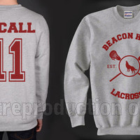 McCall 11 Beacon Hills Lacrosse Teen Wolf Crewneck Sweatshirt Heather Grey