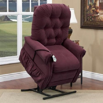 MedLift Wide Power Lift Chair Recliner with Crypton Fabric, 2 Way Recline 2555W