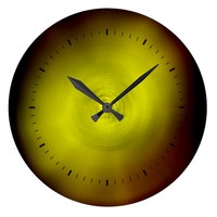 Warm Yellow Brown Colors Spectrum Large Clock