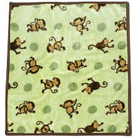 Mod Pod Pop Monkey Hi Pile Blanket