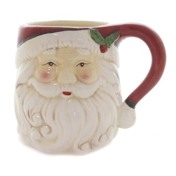 Tabletop SANTA FACE MUG Ceramic Christmas Holiday 53180C