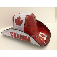 Canadian Flag Cowboy Beer Box