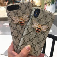 Gucci print phone shell phone case for Iphone 6/6s/6p/7p/7/8/8p/X