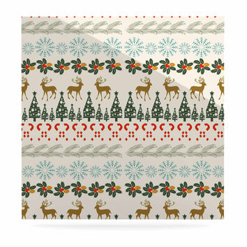 "Famenxt ""Christmas Vibes"" Holiday Pattern Luxe Square Panel"