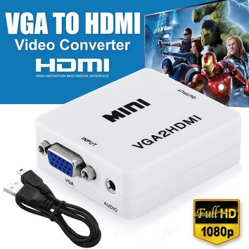 VGA to HDMI Full HD Video 1080P Converter Box