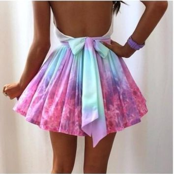 Cute Rainbow Hot Skirt