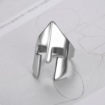 We Are Sparta!  Stainless Silver Spartan Ring