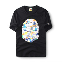 Print Bape Cotton Multi-color Short Sleeve High Quality T-shirts [10262482195]