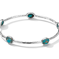 Ippolita Sterling Silver Rock Candy 5-Stone Bangle In Bronze Turquoise