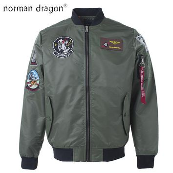 2018 top gun patch ma-1 tactical bomber jacket military embroidered Pilot army varsity fly flight japanese letterman for men